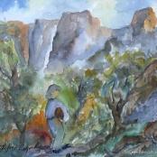 Sold | Ampenberger, Stefan | Figure in a landscape