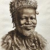 Sold | Bhengu, Gerard | Portrait Study of a Zulu Man