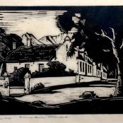 Pierneef, J.H | Kromme rivier, Stellenbosch, dated 1925