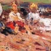 Sold | Boshoff, Adriaan | Three girls on the beach