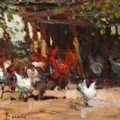Sold | Boshoff, Adriaan | Chickens in the yard