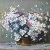Sold | Boshoff, Adriaan | Flowers in a copper pot