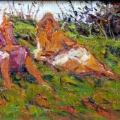 Sold | Boshoff, Adriaan | 2 Ladies on a hill