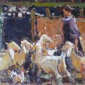 Sold | Boshoff, Adriaan | Feeding the goats