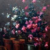 Sold | Boshoff, Adriaan | Still life of Azaleas