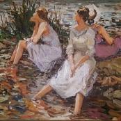 Sold | Boshoff, Adriaan | Ladies at the pond