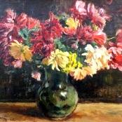 Sold   Broadley, Robert   Still life of flowers