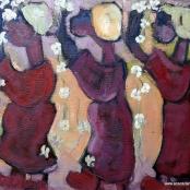 Sold | Claerhout, Frans | 3 Figures walking