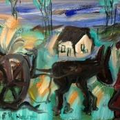 Sold |Claerhout, Frans | Donkey Cart