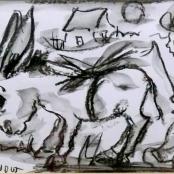 Sold  Claerhout, Frans   Donkey