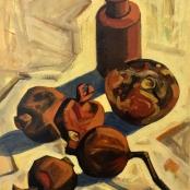 Sold   Clarke, Peter   Still life of pomegranates