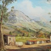 Sold | De Jongh, Gabriel | Farm landscape with Barn