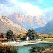 Sold | de Jongh, Gabriel | House by river