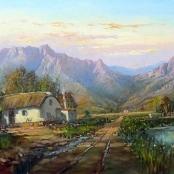Sold | de Jongh, Gabriel | Cape Dutch house in the Cape Province