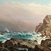 Sold | De Jongh, Tinus | Waves breaking on Rocky shore