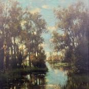 Sold   De Jongh, Tinus   River landscape