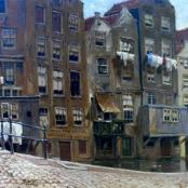 Sold   De Jongh, Tinus   Town Scene