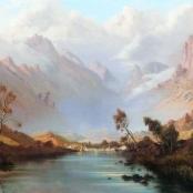 Sold | De Jongh, Tinus | River through mountains