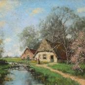 Sold | de Jongh, Tinus | Farm scene
