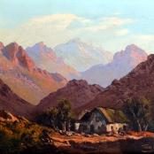 Sold | De Jongh, Tinus | House between mountains