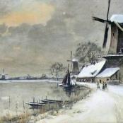 Sold   De Jongh, Tinus   Winter landscape