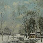 Sold   De Jongh, Tinus   Winter Scene