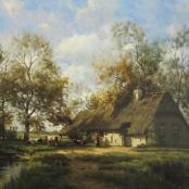 Sold |De Jongh, Tinus | Farmhouse with cattle