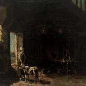 Sold   De Jongh, Tinus   Farm house interior