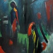 Sold  Domsaitis, Pranas   Figures on a Path