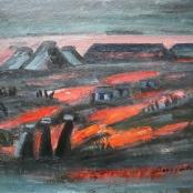 Sold   Domsaitis, Pranas   3 Figures in the Twilight - Karoo