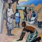 Sold   Domsaitis, Pranas   Figures between huts