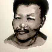 Sold   Dumas, Marlene   Portrait of a young Nelson Mandela