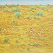 Sold | Eloff, Zakkie | Landscape with Springbuck