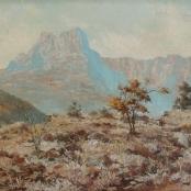 Klar, Otto |Mountainous landscape