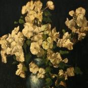 Sold  Oerder, Frans   White flowers in blue vase