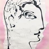 Coetzee, Christo | Pink and grey profile