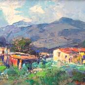 Sold | Fasciotti, Titta | Red roof shacks