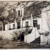 Goodman, Robert Gwelo | Cape Cottage, Etching, ABSOLUT ART GALLERY, www.absolutart.co.za