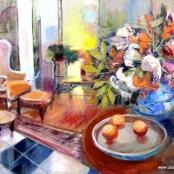 Sold   Gradwell, Margaret   Still life in living room