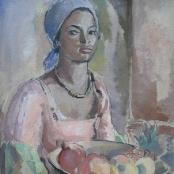 Sold   Hendriks, Anton Petrus   Portrait of a coloured girl