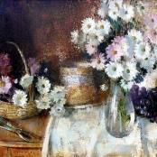 Sold   Henkel, Irmin   Still life with glass vase