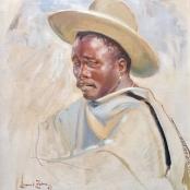 Zahn, Laurel   Portrait of a pensive man, Signed & dated 57
