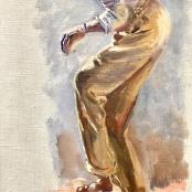Oerder, Frans   Dancing Man, Signed