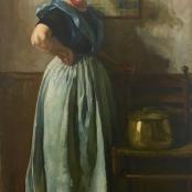 J.H Pierneef   The study of a woman of Walcheren