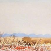 Sold   Jentsch, Adolph   Namibian landscape