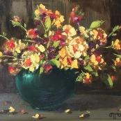 Sold   Klar, Otto   Still life with Multicolour flowers