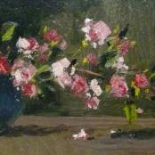 Sold   Klar, Otto   Flowers in a blue vase