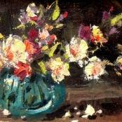 Sold   Klar, Otto   Vase of flowers