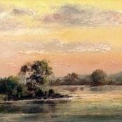 Sold   Klar, Otto   Landscape at dusk