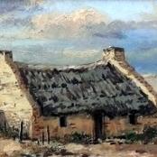 Sold   Klar, Otto   Landscape with cottages